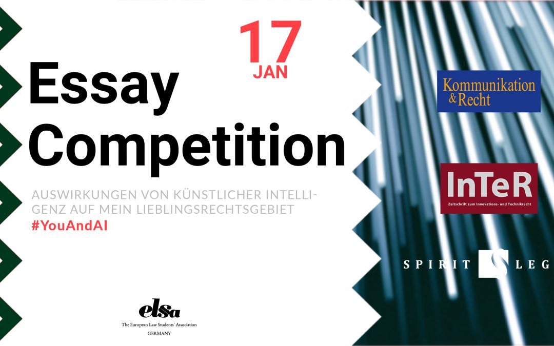 """Essay Competition 2020: """"Auswirkungen von KI auf mein Lieblingsrechtsgebiet"""""""
